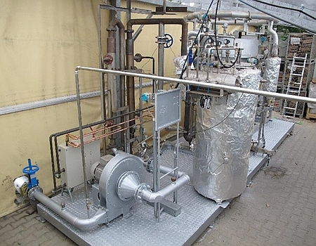 Autothermal gasification technology: a) gas cleaning devices - hot filter, gas cooling and exhaust fan