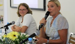 Prof. Ing. Zuzana Dvořáková, CSc., Ing. Kateřina Legnerová, Ph.D., MBA (zleva)